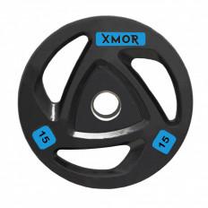 Obciążenie olimpijskie ogumowane 15 kg XMOR