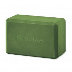 Kostka do jogi z pianki GAIAM (zielona)