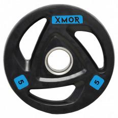 Obciążenie olimpijskie ogumowane 5 kg XMOR