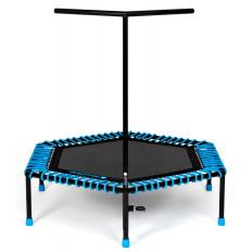 Trampolina fitness 126cm FIT AND JUMP (niebieska)