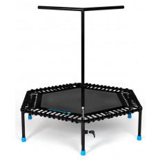 Trampolina fitness 126cm FIT AND JUMP (czarna)