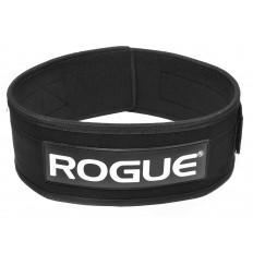 """Pas kulturystyczny materiałowy 4"""" ROGUE (czarny)"""