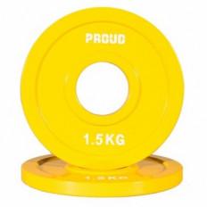 Obciążenie FRACTIONAL STEEL PLATE 1,5kg PROUD