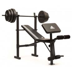 Ławka treningowa ze sztangą 45 kg ADBE-10349 ADIDAS