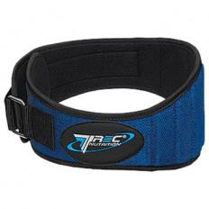 Trec - Pas kulturystyczny materiałowy szeroki (niebieski)