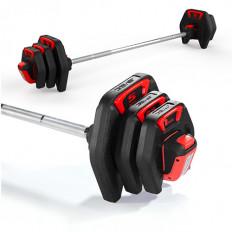 Sztanga treningowa PU AVEC (czarno-czerwona)