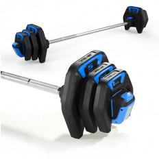 Sztanga treningowa PU AVEC (czarno-niebieska)