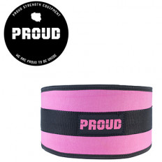 Pas treningowy neoprenowy WOMAN'S WEIGHTLIFTIN BELT PROUD (różowy)