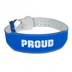 Pas treningowy skórzany PREMIUM PROUD (niebieski)