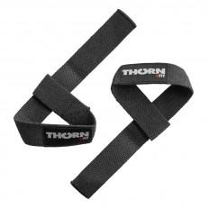 Paski do podnoszenia ciężarów lifting Strap THORN+FIT (czarne)