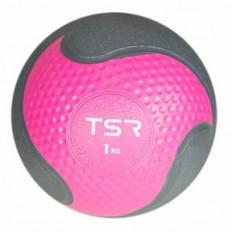 Piłka lekarska FITNESS PREMIUM 1 kg TSR (różowa)