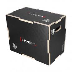Box / Skrzynia drewniana mała czarna 50x40x30 cm PLYO BOX DSC03 HMS