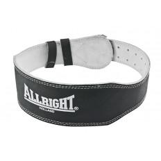 Pas kulturystyczny skórzany Allright (czarny)