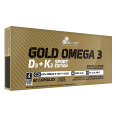 Olimp - GOLD OMEGA 3 D3 + K2 SPORT EDITION - 60 kaps.
