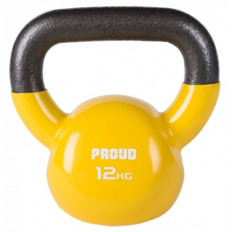 Hantla vinylowa kettlebell 12 kg - PROUD (żółta)