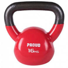 Hantla vinylowa kettlebell 16 kg - PROUD (czerwona)