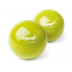 Piłki heavyball 0,5 kg tiguar (oliwka) - 2 sztuki