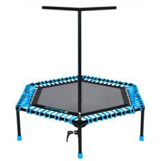Trampolina fitness 126cm COMPACT FIT AND JUMP (niebieska)