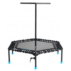 Trampolina fitness 126cm COMPACT FIT AND JUMP (czarna)