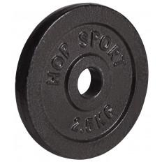 Obciążenie żeliwne 31mm 2,5kg Hop Sport (czarne)