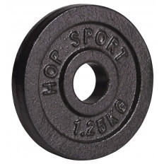 Obciążenie żeliwne 31mm 1,25kg Hop Sport (czarne)