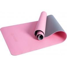 Mata fitness P2I TPE JOGA MAT różowo/szara 173x58x0.6 cm