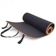 Mata do ćwiczeń fitness 180x60 cm Allright (czarno - pomarańczowa)