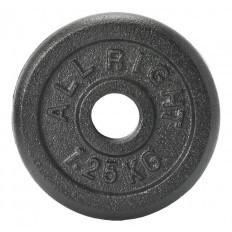 Obciążenie żeliwne czarne 28mm 1,25kg Allright