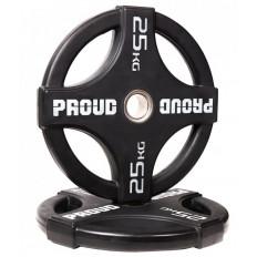 Obciążenie olimpijskie ogumowane 25 kg - PROUD
