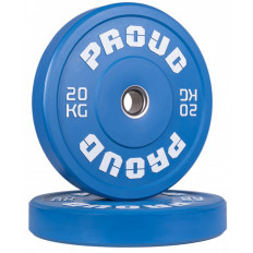 Obciążenie olimpijskie 20 kg TRAINING BUMPER PLATE COLOUR PROUD (niebieskie)