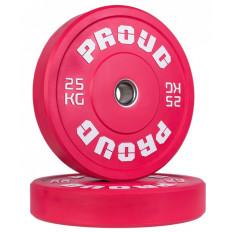 Obciążenie olimpijskie 25 kg TRAINING BUMPER PLATE COLOUR PROUD (czerwone)