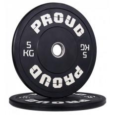 Obciążenie olimpijskie 5 kg TRAINING BUMPER PLATE COLOUR PROUD (czarne)