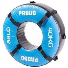Opona treningowa 40 kg - PROUD (niebieska)