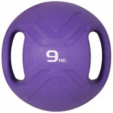 Piłka lekarska MULTI GRIP MEDBALL 9 kg - PROUD (fioletowa)