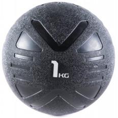 Piłka lekarska MEDICINE BALL BLACK 1 kg - PROUD