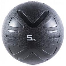 Piłka lekarska MEDICINE BALL BLACK 5 kg - PROUD