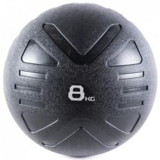 Piłka lekarska MEDICINE BALL BLACK 8 kg - PROUD