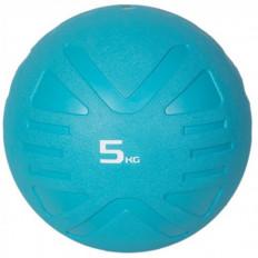 Piłka lekarska MEDICINE BALL 5 kg - PROUD (błękitna)