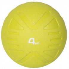 Piłka lekarska MEDICINE BALL 4 kg - PROUD (limonkowa)