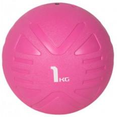 Piłka lekarska MEDICINE BALL 1 kg - PROUD (różowa)