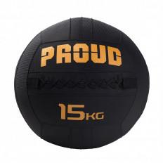 Piłka lekarska WALLBALL 15 kg - PROUD