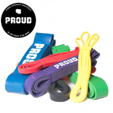 Zestaw gum POWER BAND 100 cm (7 sztuk) PROUD