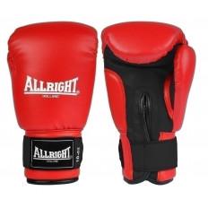Rękawice bokserskie skóra 10 oz Allright (czerwone)