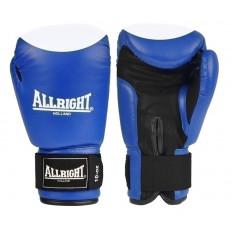 Rękawice bokserskie skóra 8 oz Allright (niebiesko-białe)