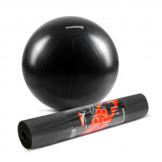 Zestaw mata TPE + piłka treningowa 65 cm THORN+FIT