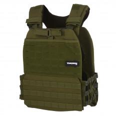 Obciążeniowa kamizelka do ćwiczeń Tactic Weight Vest (army green, 20LB) THORN+FIT