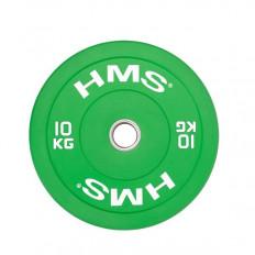 Talerz Olimpijski Bumper 10 Kg CBR10 HMS (zielony)