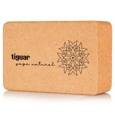Kostka do jogi korkowa yoga natural tiguar (22,4 x 14,8 x 7,4 cm)