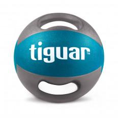 Piłka lekarska z uchwytami 6kg tiguar (morska)