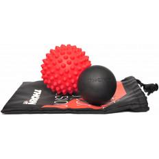 Zestaw piłek do masażu SPIKY i LACROSSE z woreczkiem THORN+FIT